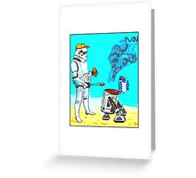 Stormtrooper griddle! Greeting Card