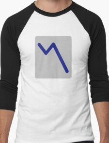 Chart statistics icon Men's Baseball ¾ T-Shirt