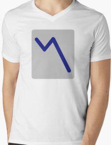 Chart statistics icon Mens V-Neck T-Shirt