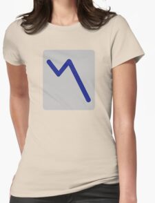 Chart statistics icon Womens Fitted T-Shirt