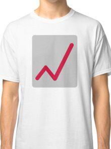 Chart statistics icon Classic T-Shirt