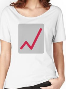 Chart statistics icon Women's Relaxed Fit T-Shirt