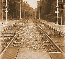 #138  Train Tracks In Sepia by MyInnereyeMike