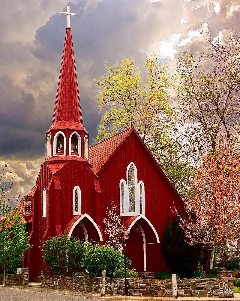 Red Church by Jim Sells