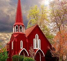 Red Church by Jim Sells