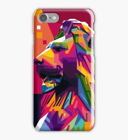 Lion Pop Art Contemporary Artist Conqr Bright 3d digital vector iPhone Case/Skin