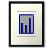 Chart statistics icon Framed Print