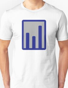 Chart statistics icon Unisex T-Shirt