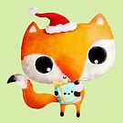 Cute Christmas Fox by colonelle