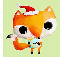 Cute Christmas Fox Photographic Print