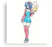 Pokemon Cyndaquil Gijinka Canvas Print