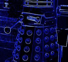 Neon Blue Dalek by PiscesAngel17