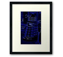 Neon Blue Dalek Framed Print