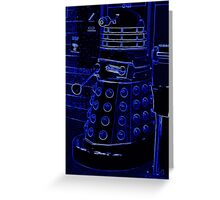 Neon Blue Dalek Greeting Card