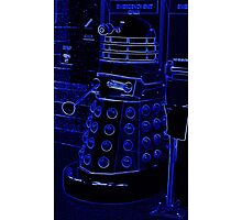 Neon Blue Dalek Photographic Print