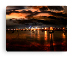 Storm Warning in Melbourne Canvas Print