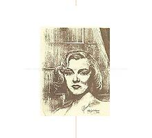 MARILYN MONROE ON A RAINY DAY Photographic Print