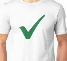 Green check mark Unisex T-Shirt
