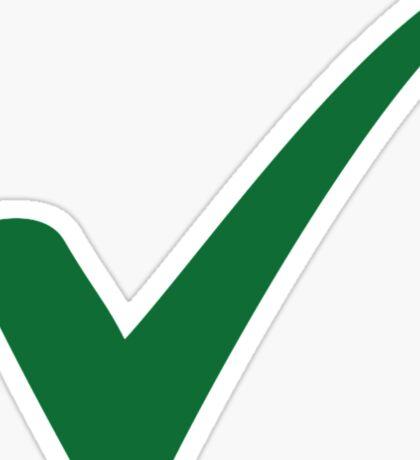 Green check mark Sticker
