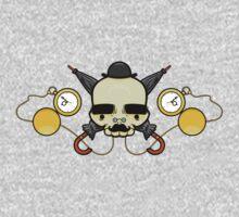 Gentleman Skull (with clocks) One Piece - Short Sleeve