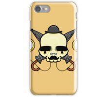 Gentleman Skull (with clocks) iPhone Case/Skin