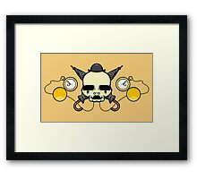 Gentleman Skull (with clocks) Framed Print