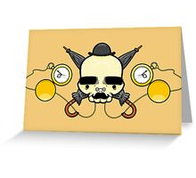 Gentleman Skull (with clocks) Greeting Card