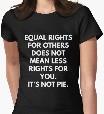 Equal Rights For Others Does Not Mean Less Rights For You Womens Fitted T-Shirt