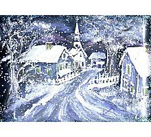 SNOWY VILLAGE CHRISTMAS SCENE Photographic Print
