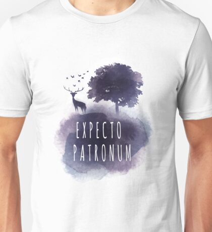 Expecto patromun watercolor stag Unisex T-Shirt