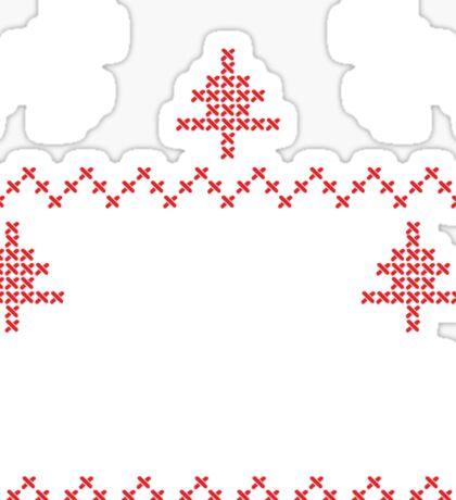 Merry Christmas knit design Sticker