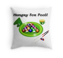 Hungry for Pool? Throw Pillow