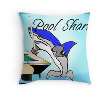 Pool Shark Challenge Throw Pillow