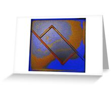 Abstract Rectangle Greeting Card