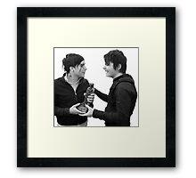 Frank Iero & Gerard Way Framed Print