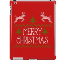 Merry Christmas knit design II iPad Case/Skin