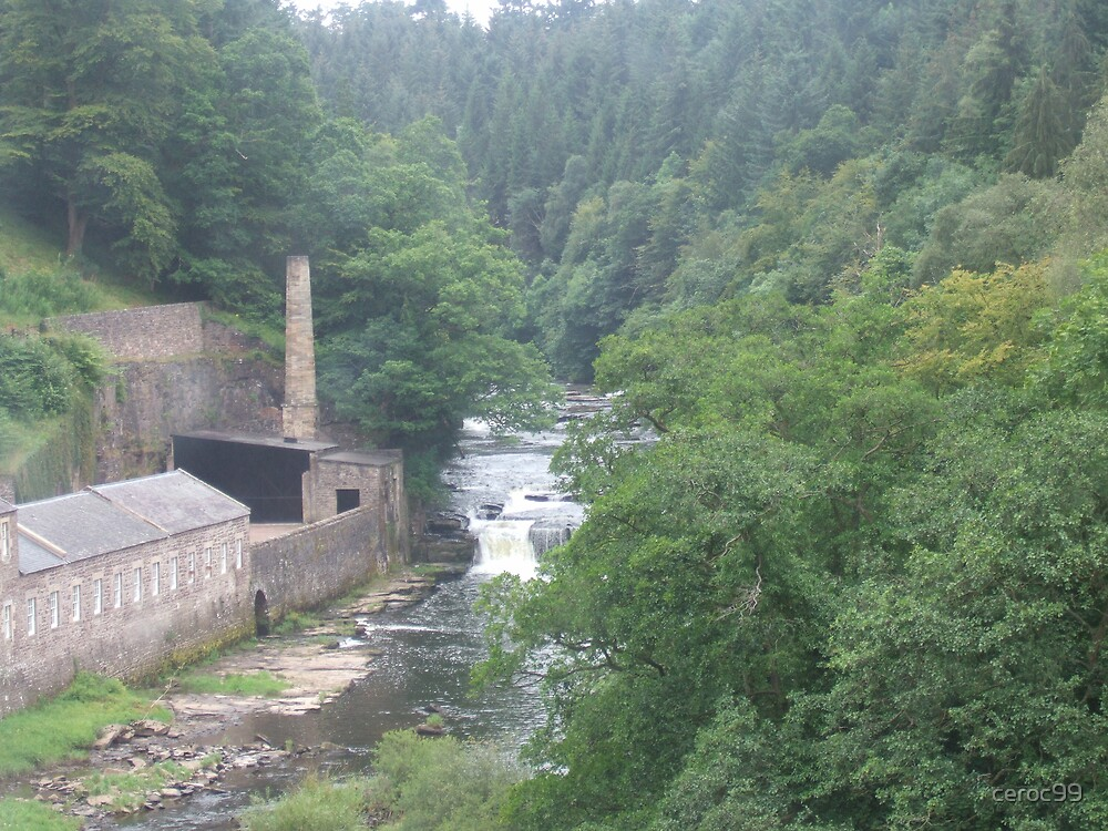 View to Falls of Clyde from New Lanark Visitor centre by ceroc99