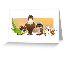 Bird Fortress Greeting Card