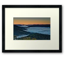 Kissing Point Lookout Framed Print