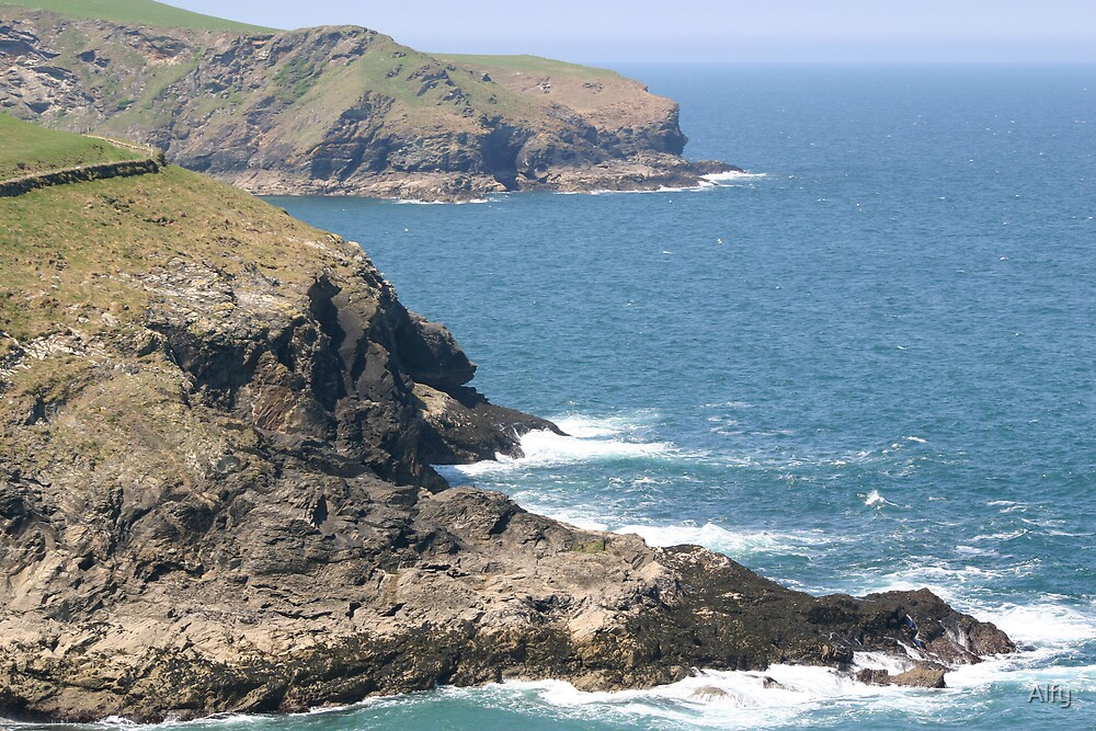 Cornish coastline by Alfy