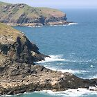 Cornish coastline by Alfy