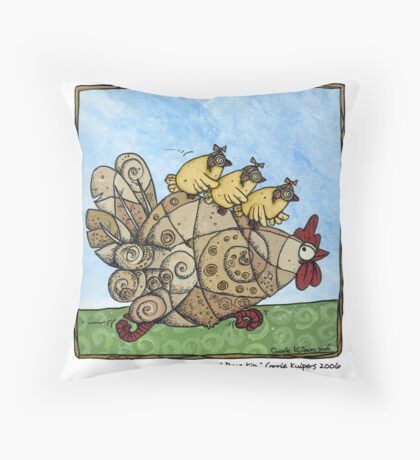 Race kip Throw Pillow