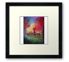 Deer in a poppy field  Framed Print
