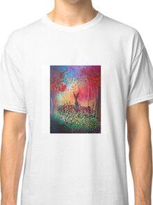 Deer in a poppy field  Classic T-Shirt
