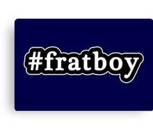 Frat Boy - Hashtag - Black & White Canvas Print