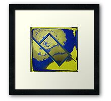 Abstract Rectangle In Yellow Framed Print