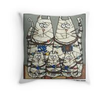 Mummy family Throw Pillow