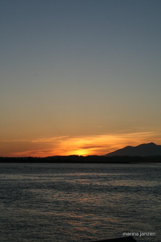 sunset from the edge by marina janzen