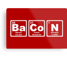 Bacon - Periodic Table Metal Print