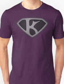 "The Letter K in the Style of ""Man of Steel"" T-Shirt"